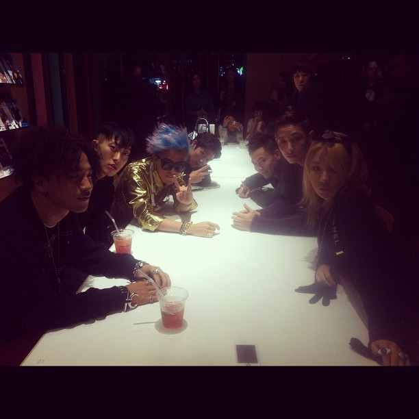 GD instagrams CL+nuthang myboon party