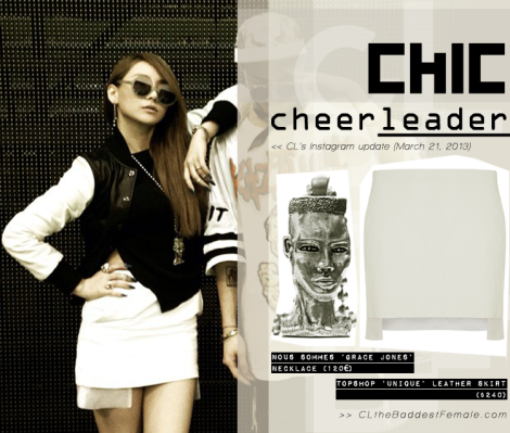 CL instagram March 21 GD  cheerleader CLTBF fashion