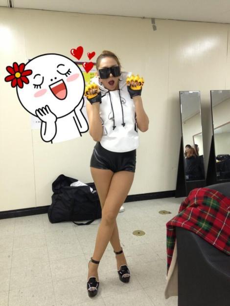 130831 Dara twitter CL GD concert BTS