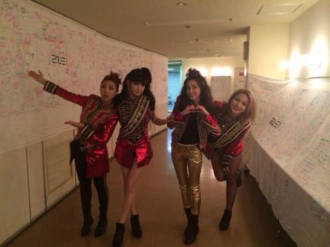 2NE1 Visits YG Exhibition in Japan