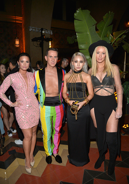attends the Jeremy Scott and adidas Originals VMA's After Party with Spirits Sponsored By Svedka Vodka at Union Station on August 30, 2015 in Los Angeles, California.
